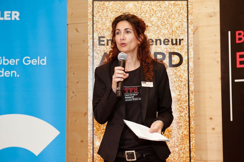 Sandra Liliana Schmid - CEO der BUSINESS-EXPO mit dem Entrepreneur AWARD